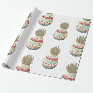 Pineapple Christmas Wrapping Wrapping Paper