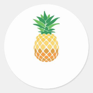 Pineapple Classic Round Sticker