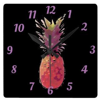 Pineapple clock Acrylic