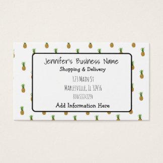 Pineapple Cutesy Tropical Business Card