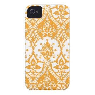 Pineapple Damask Orange iPhone 4 Case