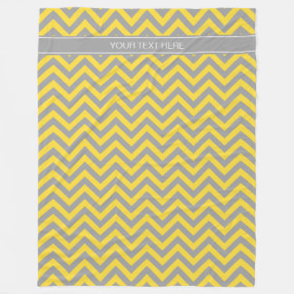 Pineapple Dk Gray LG Chevron Dk Gray Name Monogram Fleece Blanket