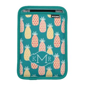 Pineapple Doodle Pattern | Monogram iPad Mini Sleeve
