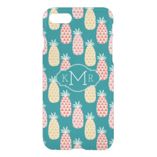 Pineapple Doodle Pattern | Monogram iPhone 8/7 Case