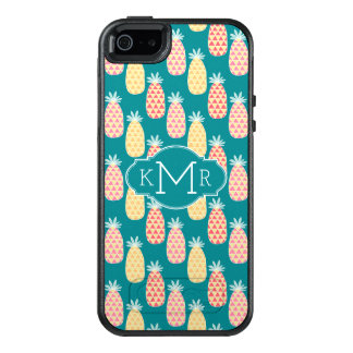 Pineapple Doodle Pattern | Monogram OtterBox iPhone 5/5s/SE Case
