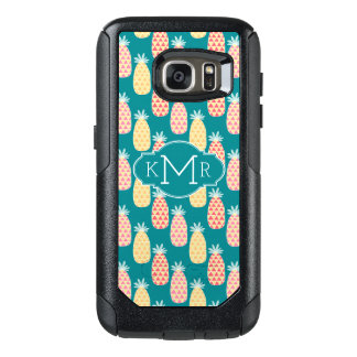 Pineapple Doodle Pattern | Monogram OtterBox Samsung Galaxy S7 Case