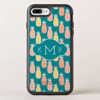 Pineapple Doodle Pattern | Monogram OtterBox Symmetry iPhone 8 Plus/7 Plus Case