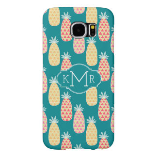 Pineapple Doodle Pattern | Monogram Samsung Galaxy S6 Cases