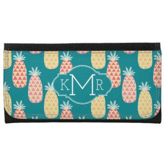 Pineapple Doodle Pattern | Monogram Wallets