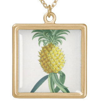 Pineapple engraved by Johann Jakob Haid (1704-67) Gold Plated Necklace