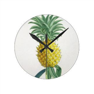 Pineapple engraved by Johann Jakob Haid (1704-67) Round Clock