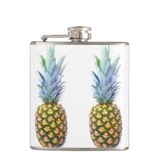 Pineapple Fruit Beach Dessert Colorful Tropical Hip Flasks