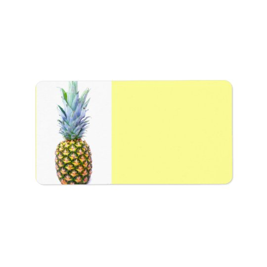 Pineapple Fruit Beach Dessert Colourful Tropical Label