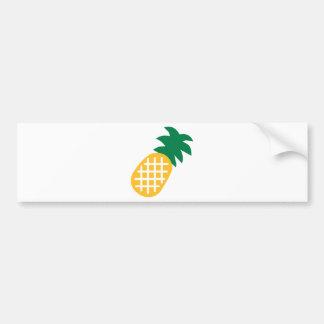 Pineapple fruit bumper sticker