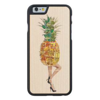 Pineapple Gems Carved Maple iPhone 6 Case