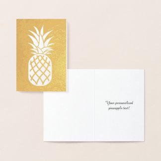 Pineapple Gold Foil Card