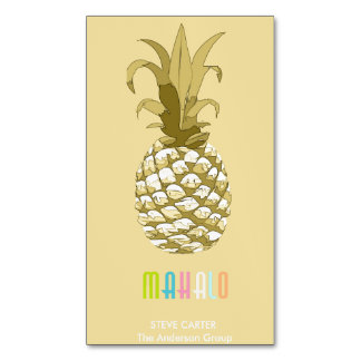 Pineapple Gold Mahalo ID239 Magnetic Business Card