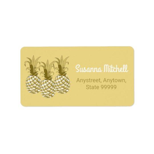 Pineapple Gold Row ID239 Label