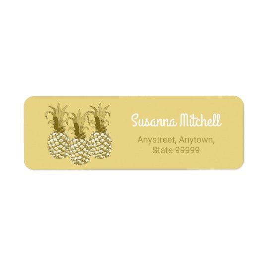 Pineapple Gold Row ID239 Return Address Label