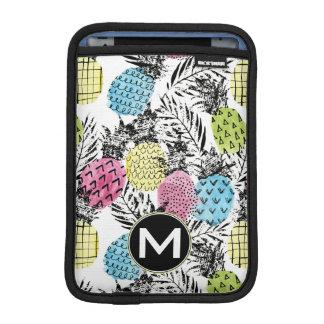 Pineapple Grunge Palms | Monogram iPad Mini Sleeve