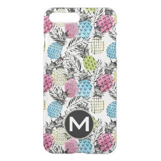 Pineapple Grunge Palms | Monogram iPhone 8 Plus/7 Plus Case
