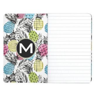 Pineapple Grunge Palms   Monogram Journals