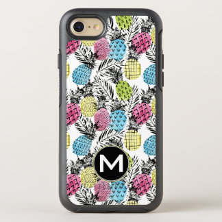 Pineapple Grunge Palms | Monogram OtterBox Symmetry iPhone 8/7 Case