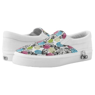 Pineapple Grunge Palms Printed Shoes