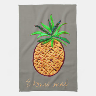 Pineapple Hawaiian Welcome Tea Towel