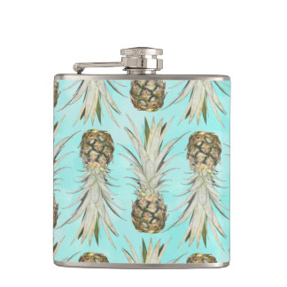 Pineapple Jungle - Aqua Hip Flask