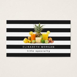 Pineapple Kiwi Fruits Juice - Black White Stripes