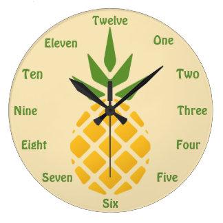 Pineapple Large Clock