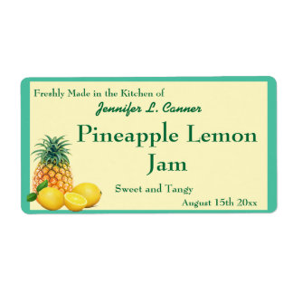 Pineapple Lemon Jam Preserves Canning Jar