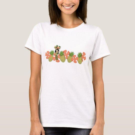 Pineapple Luau Band Gal's T-Shirts