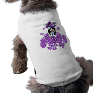 Pineapple Luau Doggie T-Shirts Sleeveless Dog Shirt