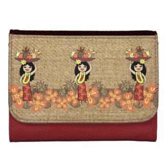 Pineapple Luau Hawaiian Hula Girl Wallets