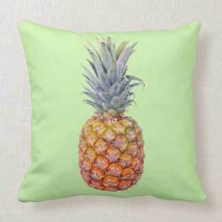Pineapple Mint Green Repeat Pattern on Back Pillow