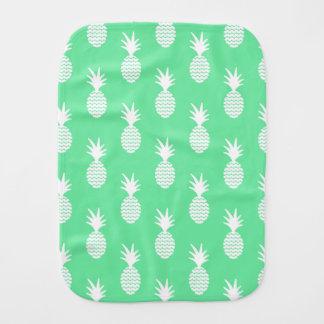 Pineapple Mint Pattern Baby Burp Cloth