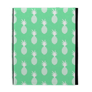 Pineapple Mint Pattern iPad Folio Cover