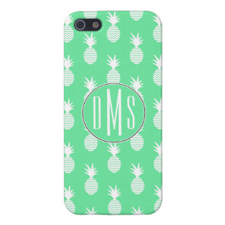 Pineapple Mint Pattern   Monogram Cover For iPhone 5/5S