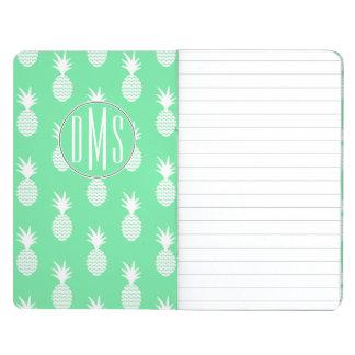 Pineapple Mint Pattern | Monogram Journal