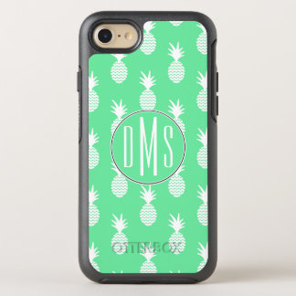 Pineapple Mint Pattern | Monogram OtterBox Symmetry iPhone 8/7 Case