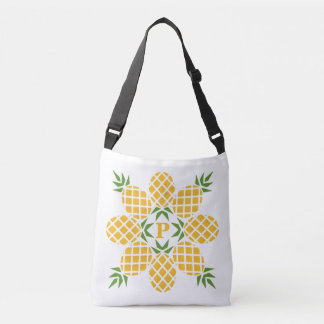 Pineapple Motif (Add Your Background Color) Crossbody Bag