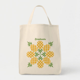 Pineapple Motif Tote Bag