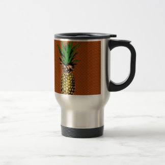 Pineapple Newsprint Travel Mug