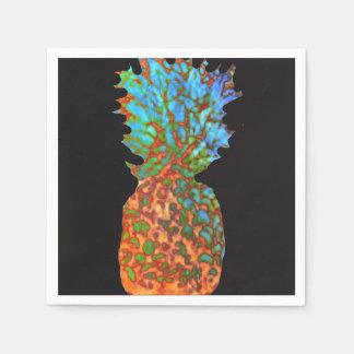 Pineapple on Black Disposable Napkins