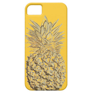 Pineapple on Yellow Gold iPhone 5 Case