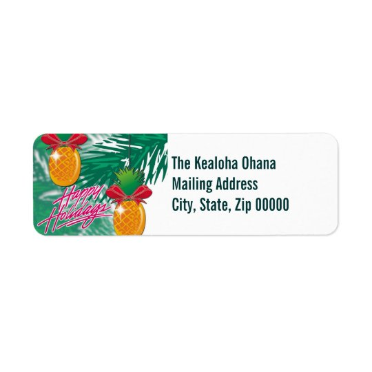 pineapple orn ~ mailing label