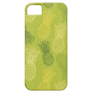 Pineapple Outline Pattern on Green Barely There iPhone 5 Case