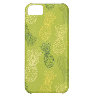 Pineapple Outline Pattern on Green iPhone 5C Case